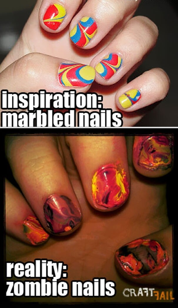10. Marbled Nails