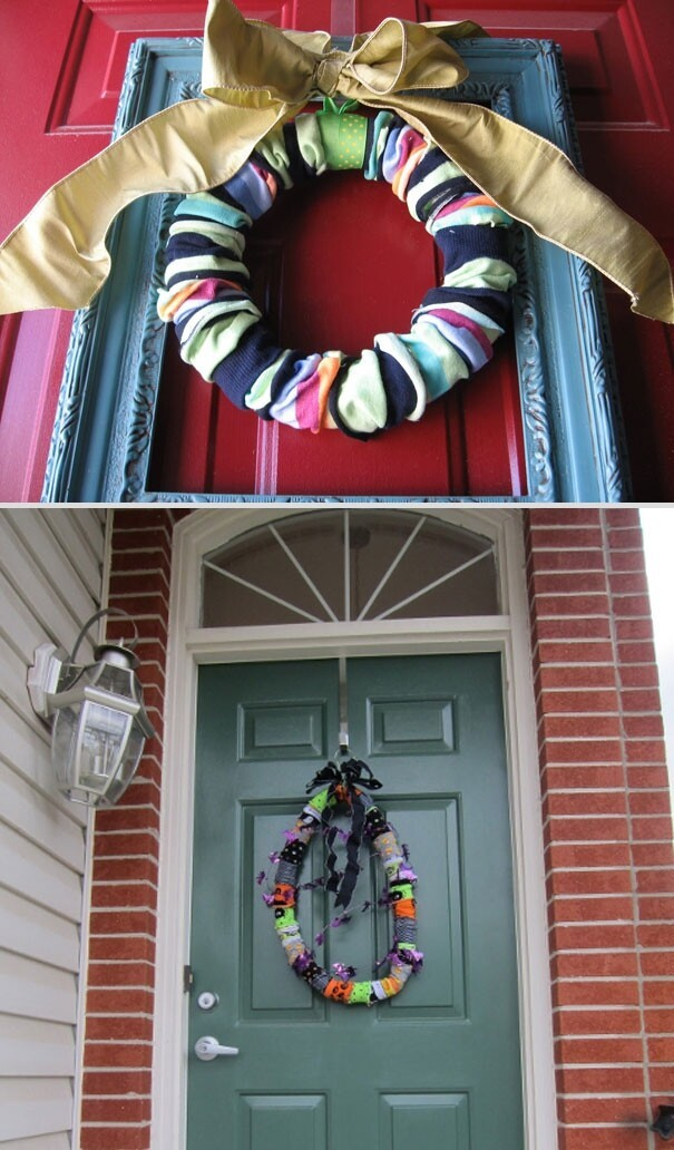 20. Sock Wreath