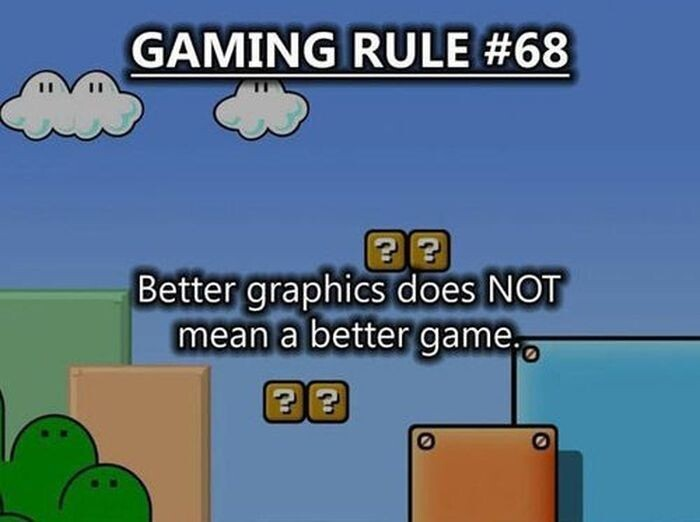Better graphocs does not mean a better game