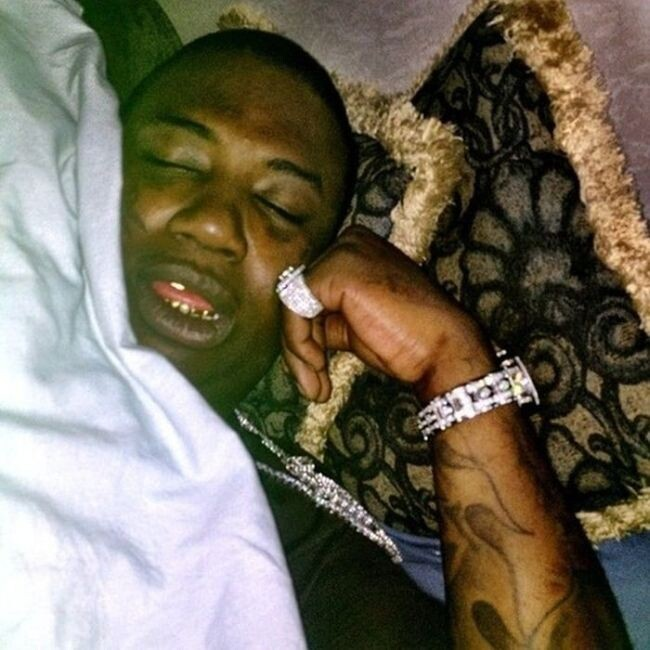 Gucci Mane having a bad dream: