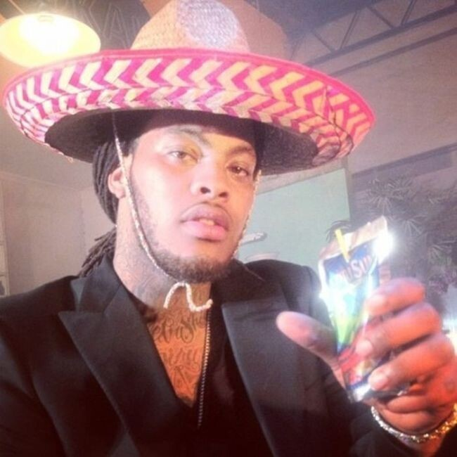 Wacka Flocka Flame celebrating Cinco De Mayo with a Capri-Sun during school lunch: