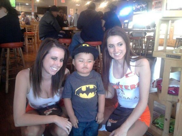 Bat boy doesn't Appreciate Hooters