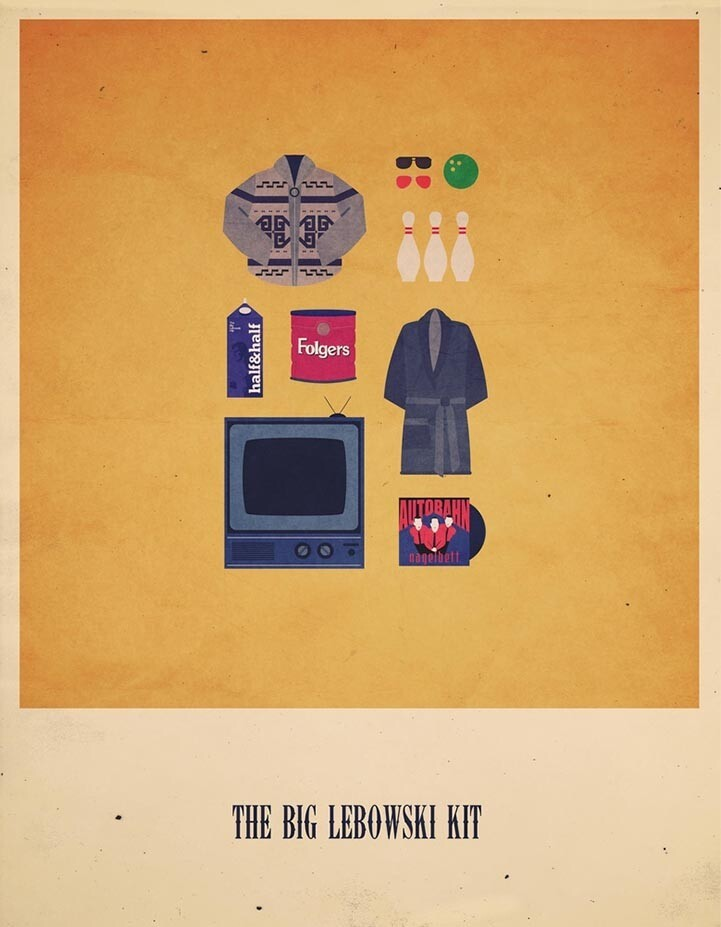 Minimalist Posters Feature Playful Pop Culture References