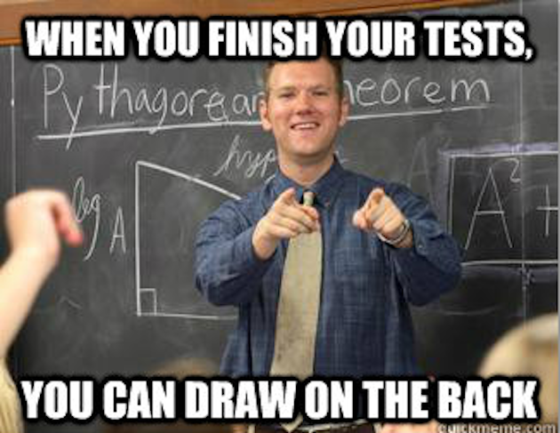 High school teacher meme.