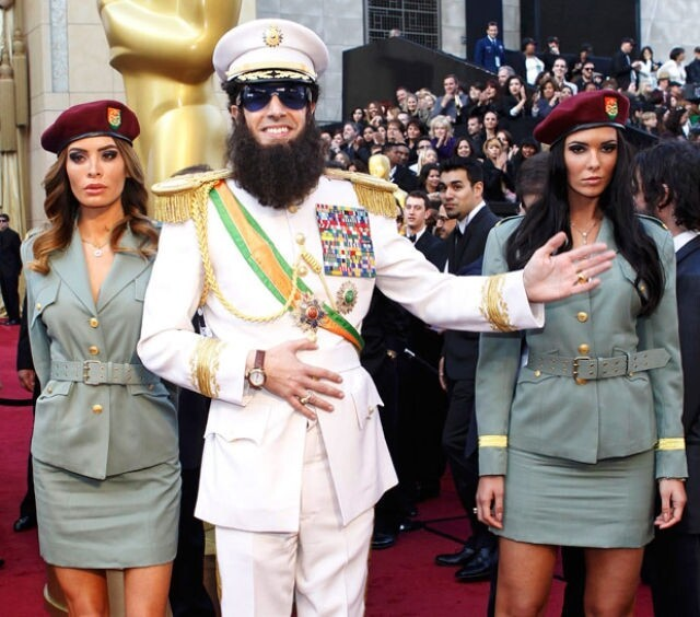 Sacha Baron Cohen's fictional Republic of Wadiya — featured in his movie The Dictator, 2525 votes .