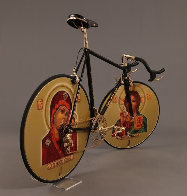 The Russian Orthodox Icons black–n'–golden bicycle