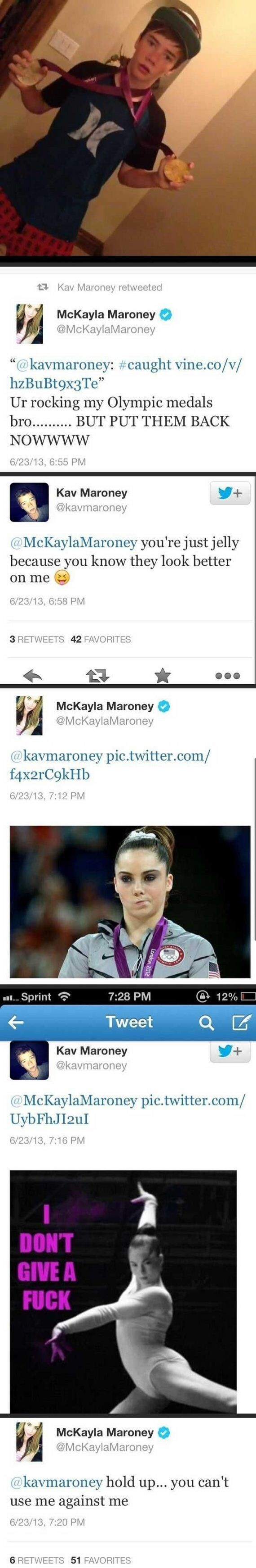 McKayla Maroney vs Her Brother