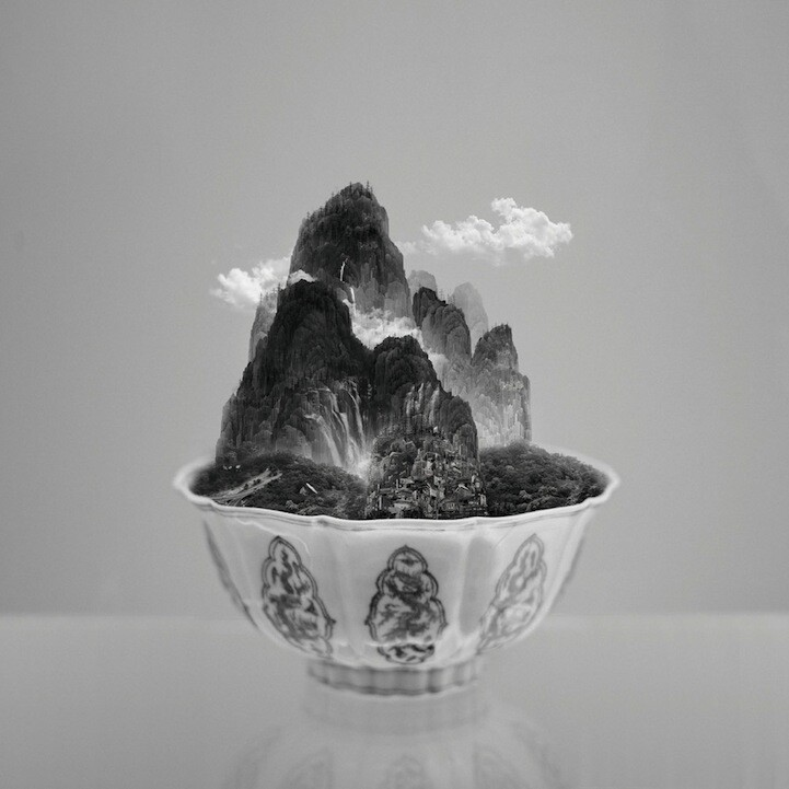 Taipei Landscapes Served in Traditional Porcelain Bowls