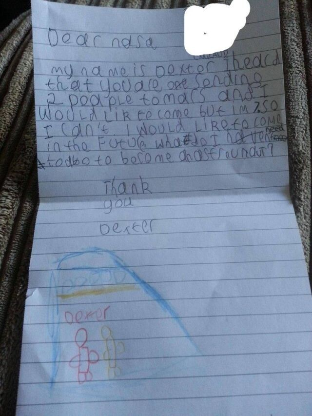 7 Year Old Writes a Letter to NASA and NASA Responds!