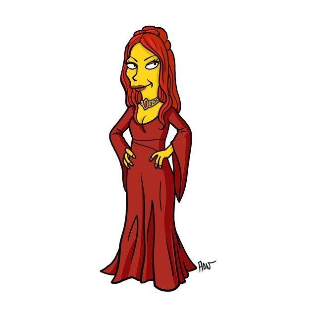 GAME OF THRONES Characters Get SIMPSONS Style Makeover
