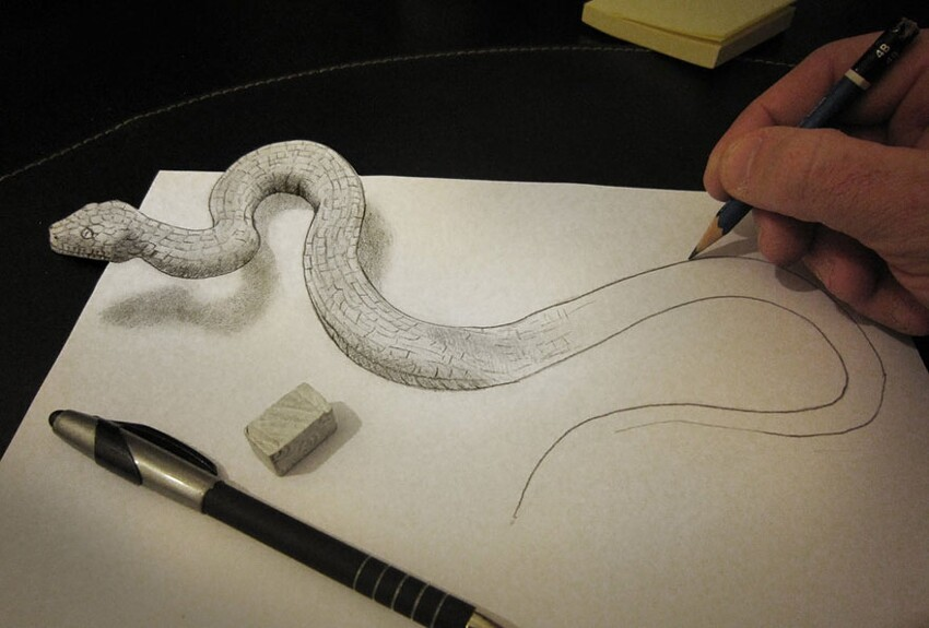 3D Pencil Drawings by Alessandro Diddi
