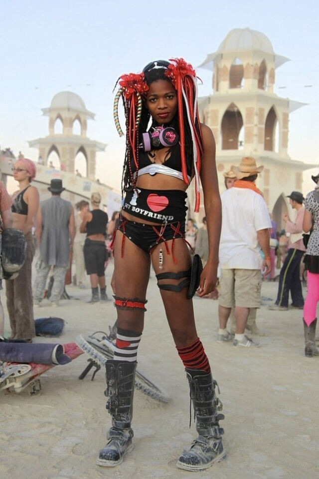 "The Funky and Freaky Girls at the ""Burning Man"" Festival"