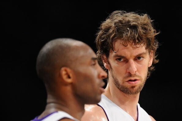 Laker Love: 12 Photos Of Kobe Bryant & Pau Gasol Bro-mancing