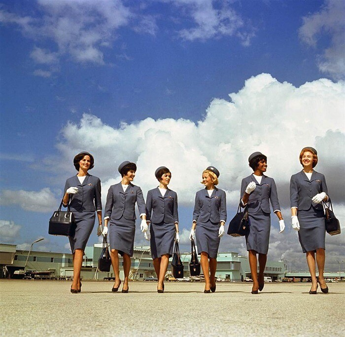 A Retrospective On 50 Years Of Flight Attendant Fashion