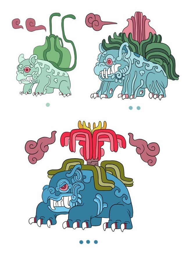 Pokemayans, Pokémon Illustrated in the Style of Mayan Art