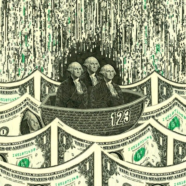 Impressive Collages Pieced Together From US Dollar Bills