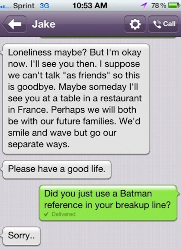 Worst Break-Up Texts Ever