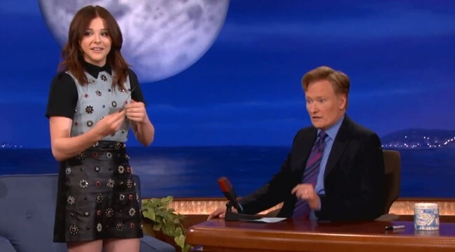 Chloe Moretz Shows Conan Her Kick-Ass Butterfly Knife Skills