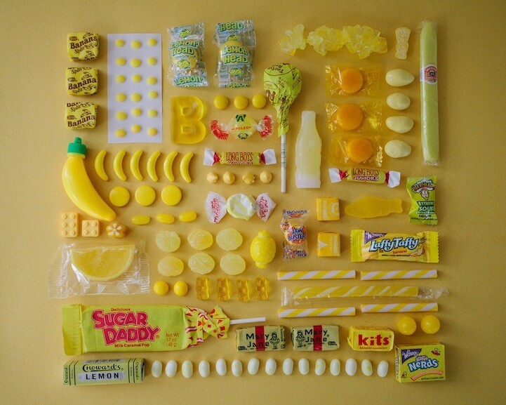 Delicious Sugary Treats Perfectly Organized by Color