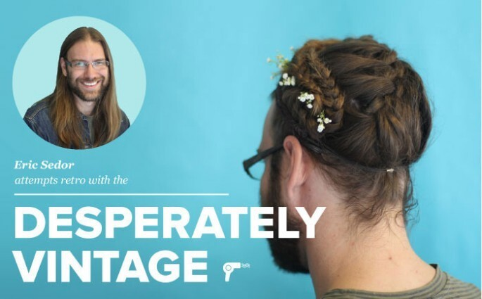 Men with long hair try fancy feminine up-dos
