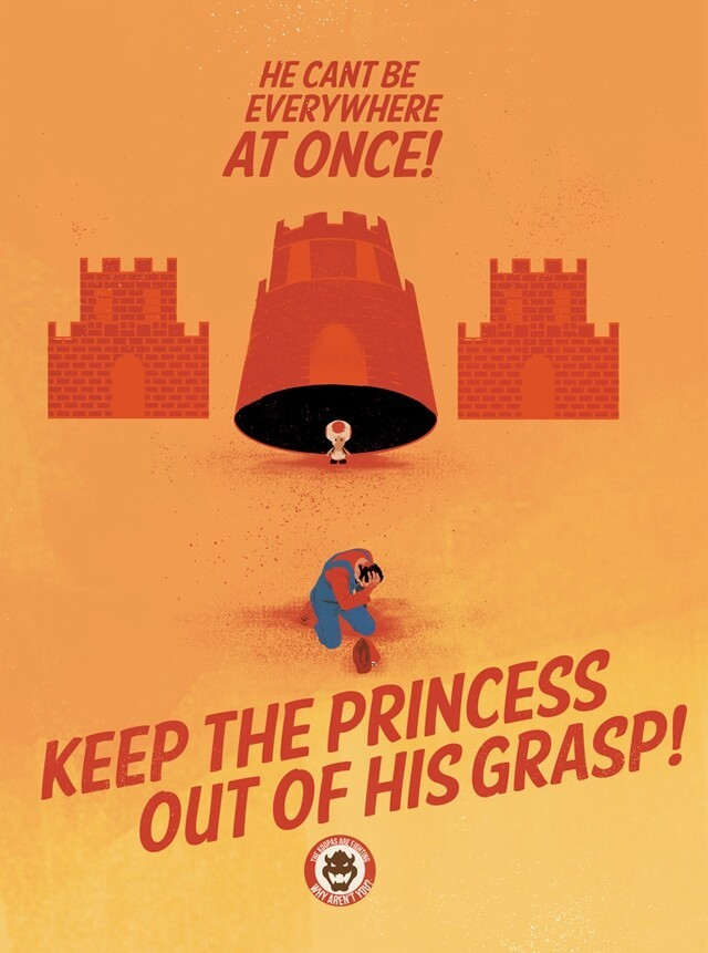 Super Mario Bros. Themed World War II Propaganda Posters