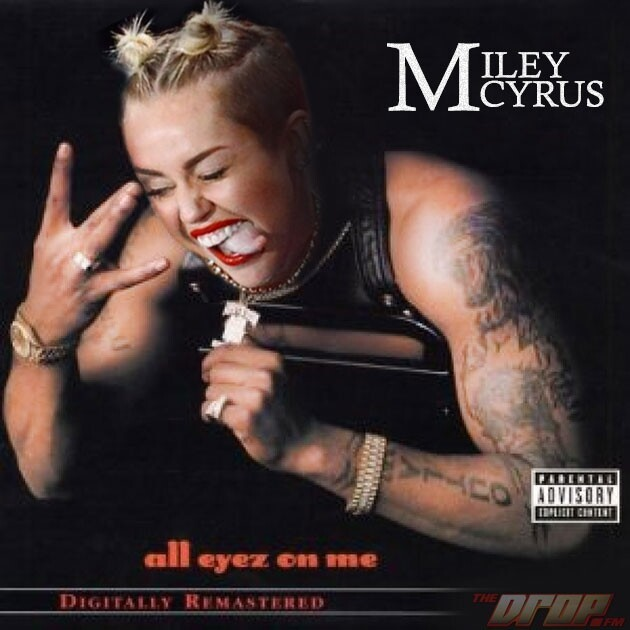 See Miley Cyrus on Classic Hip-Hop Album Covers