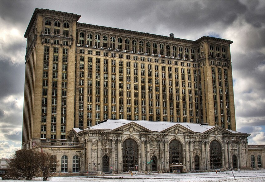 11. Michigan Central Station in Detroit, U.S.A.