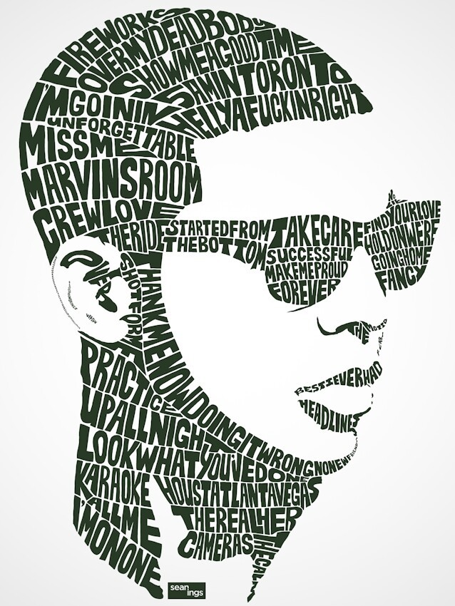 Amazing Typography Portraits Created with Song Lyrics