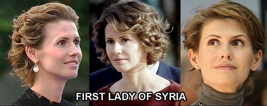 U.S. first lady vs. Syria's first lady