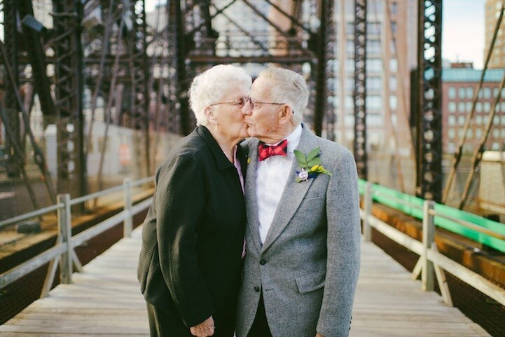 Photos of the couple married for 61 years