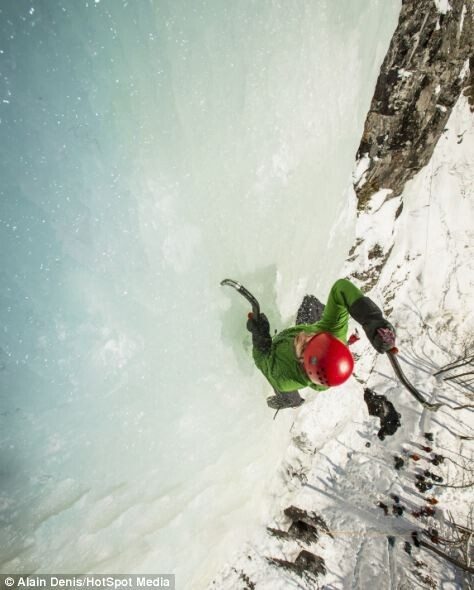 Ice climbing in Canada