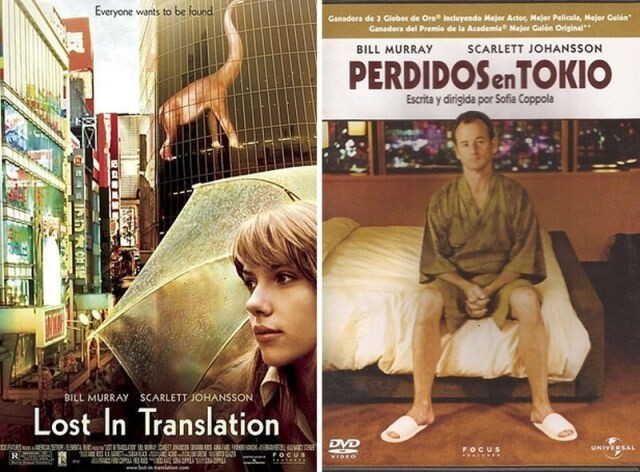 Movie title translations in some countries