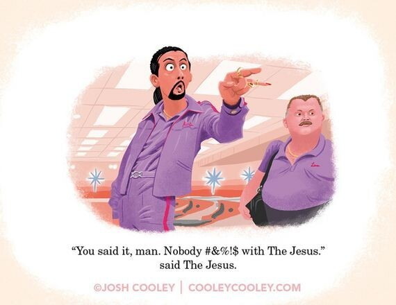 Scenes from famous movies in pictures of Josh Cooley