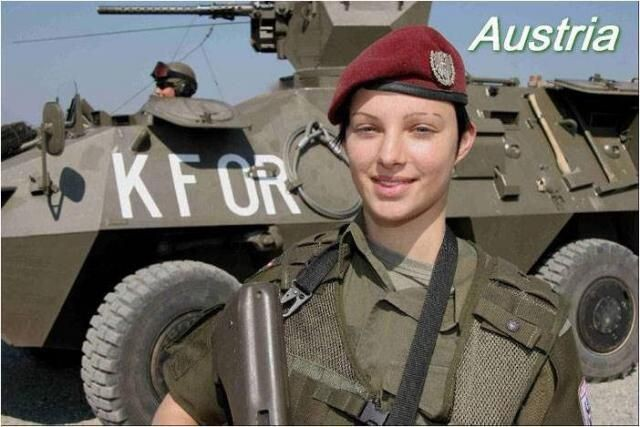 Army Girls from different countries