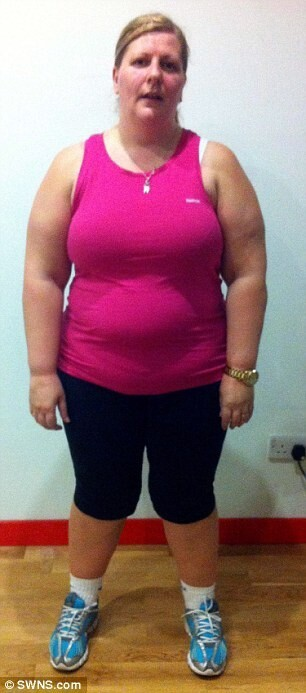 Obese part-owner of fitness company loses 8 stone