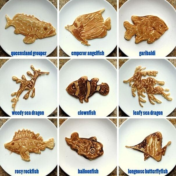 One Dad Turns Breakfast Time Into Learning Time With His Pancakes