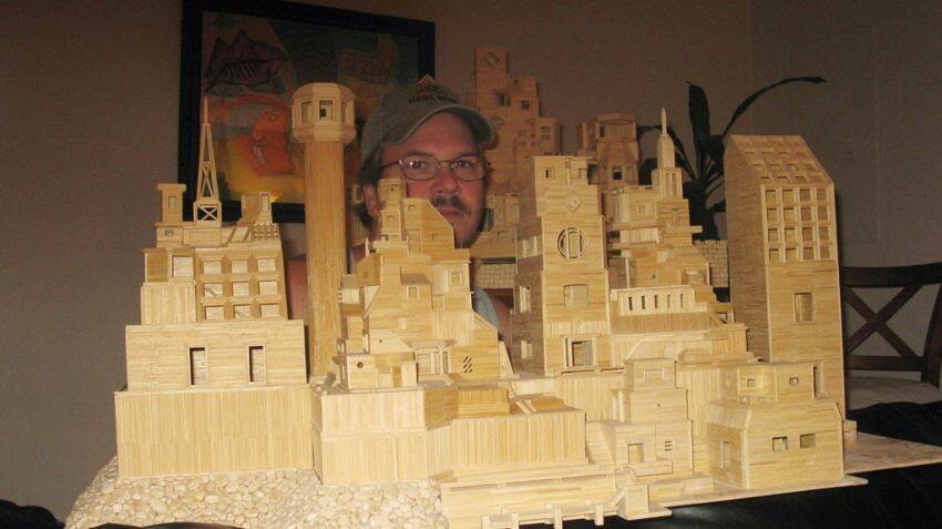 Toothpick City Art and Sculpture