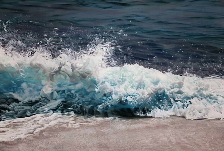 Photorealistic Pastel Drawings of the Maldives