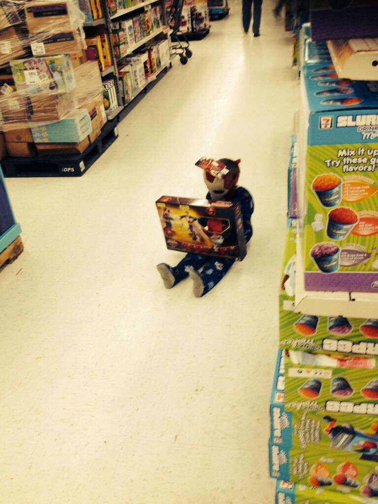 This Is What Happens When You Force Your Kids To Go Shopping With You