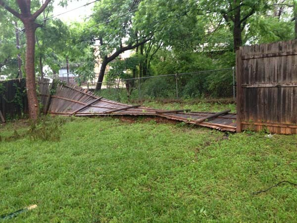 What This Guy Did After A Storm Destroyed His Fence Is Brilliant