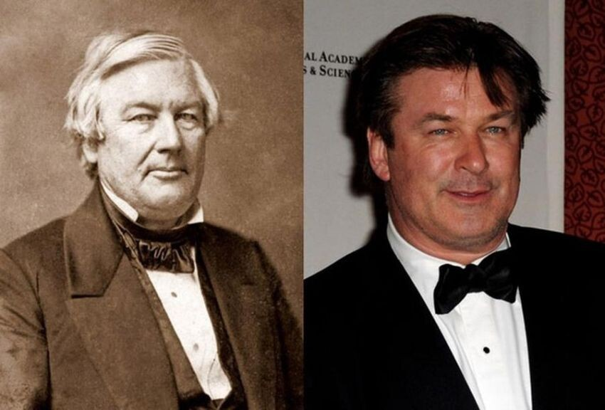 Celebrities and their historical doppelgängers