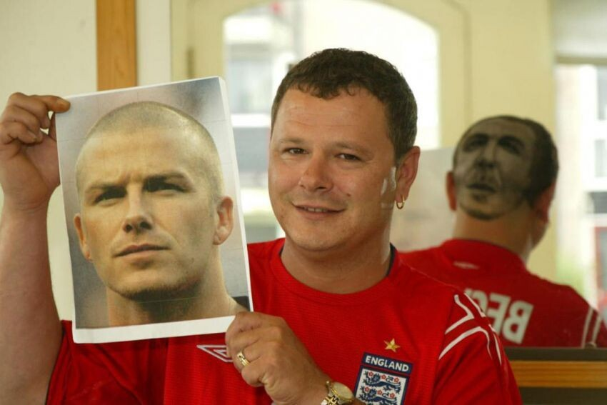 Fans' Heads Become Works of World Cup Art