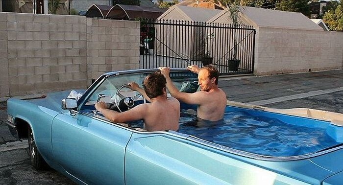 1969 Cadillac Converted Into A Mobile Hot Tub