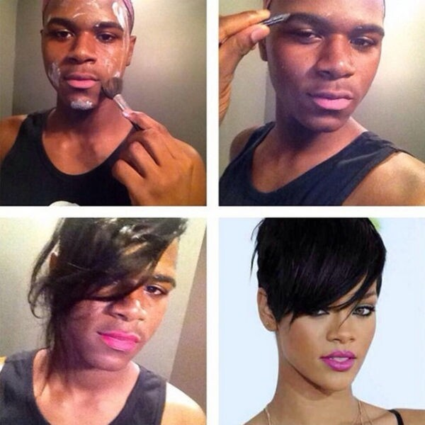 A Weird Trend of Guys Posting Makeup Transformation Pics on Instagram