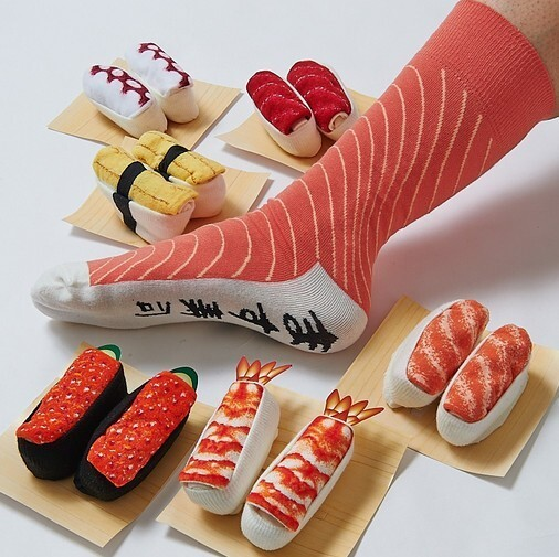 These Socks Look Like Real Sushi Pieces