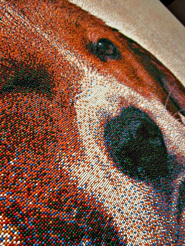 An Adorable Portrait Of A Showering Dog Is Actually Made Of  Sprinkles