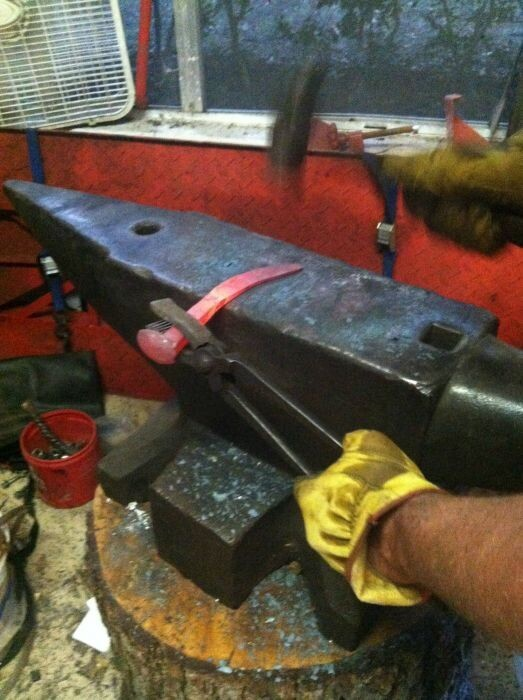 Making Knives Out Of Railroad Spikes