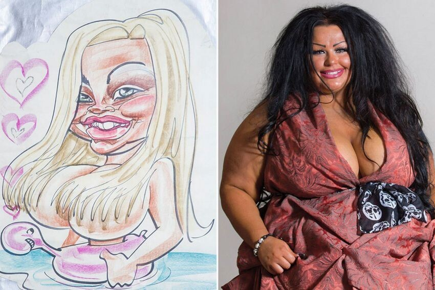 Woman Turned Herself into a Living Caricature