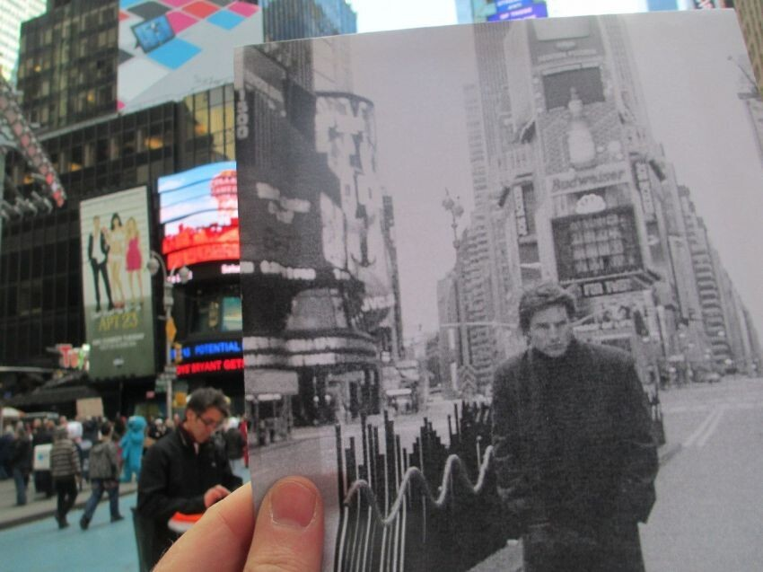 Photographer matches movie scenes with their present-day locations
