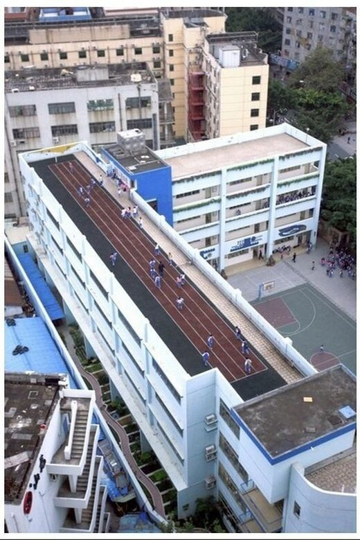 School Stadiums on the Roofs